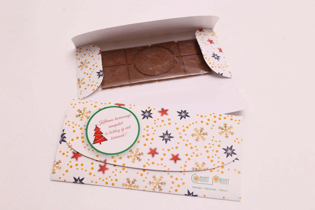 Reklámajándék: csokoládé pénztárca csomagolásban