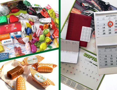 Logózott szaloncukor, egyedi képeslap, naptár – kreatív ötletek céges évvégi ajándékokhoz